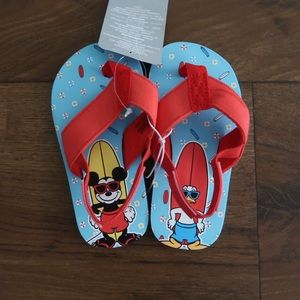 Mickey and Donald Flip Flops